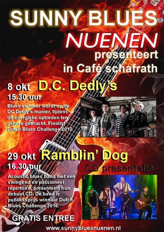 Ramblin' Dog, acoustic bluesband - CD-presentatie cafe Schafrath Nuenen